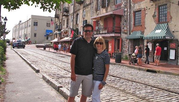River Street in Romantic Old Savannah, GA