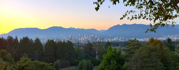 View from Romantic Seasons in the Park Restaurant, Vancouver