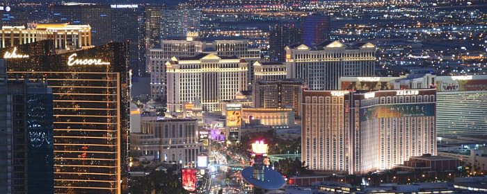 Romantic Las Vegas Hotels at Night